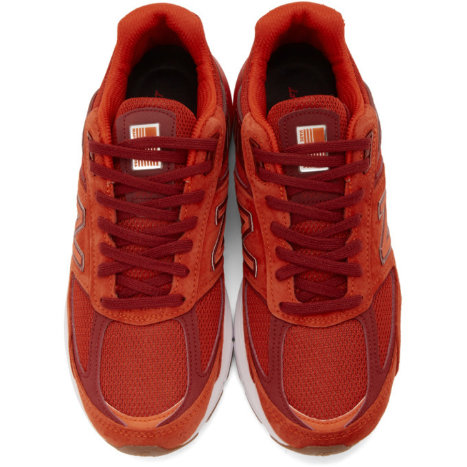 New Balance Red US Made 990v5 Sneakers