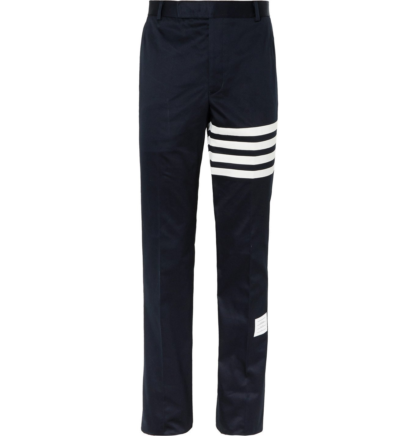Photo: Thom Browne - Slim-Fit Tapered Striped Cotton-Twill Chinos - Blue