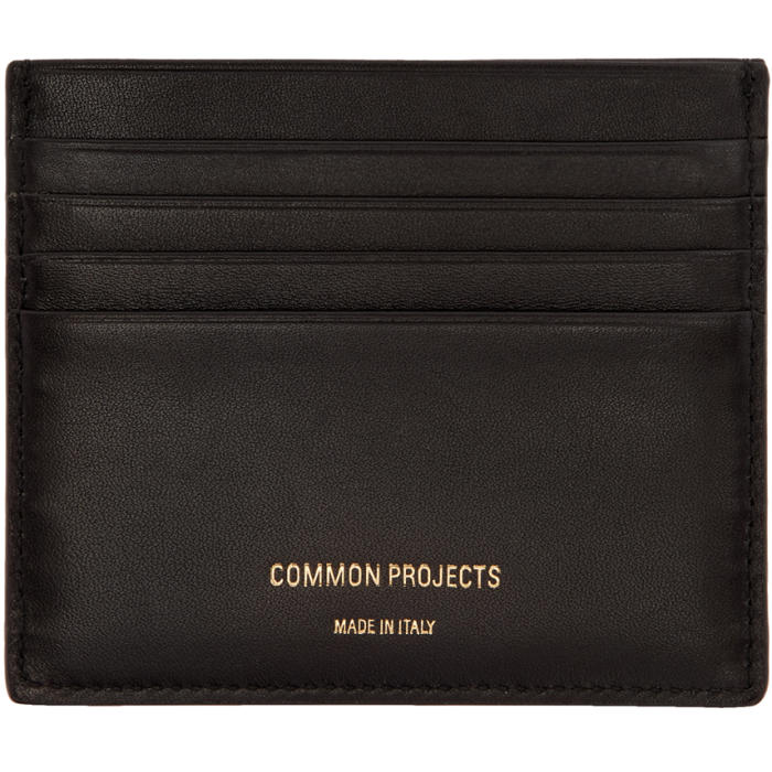 Common Projects Black Large Card Holder