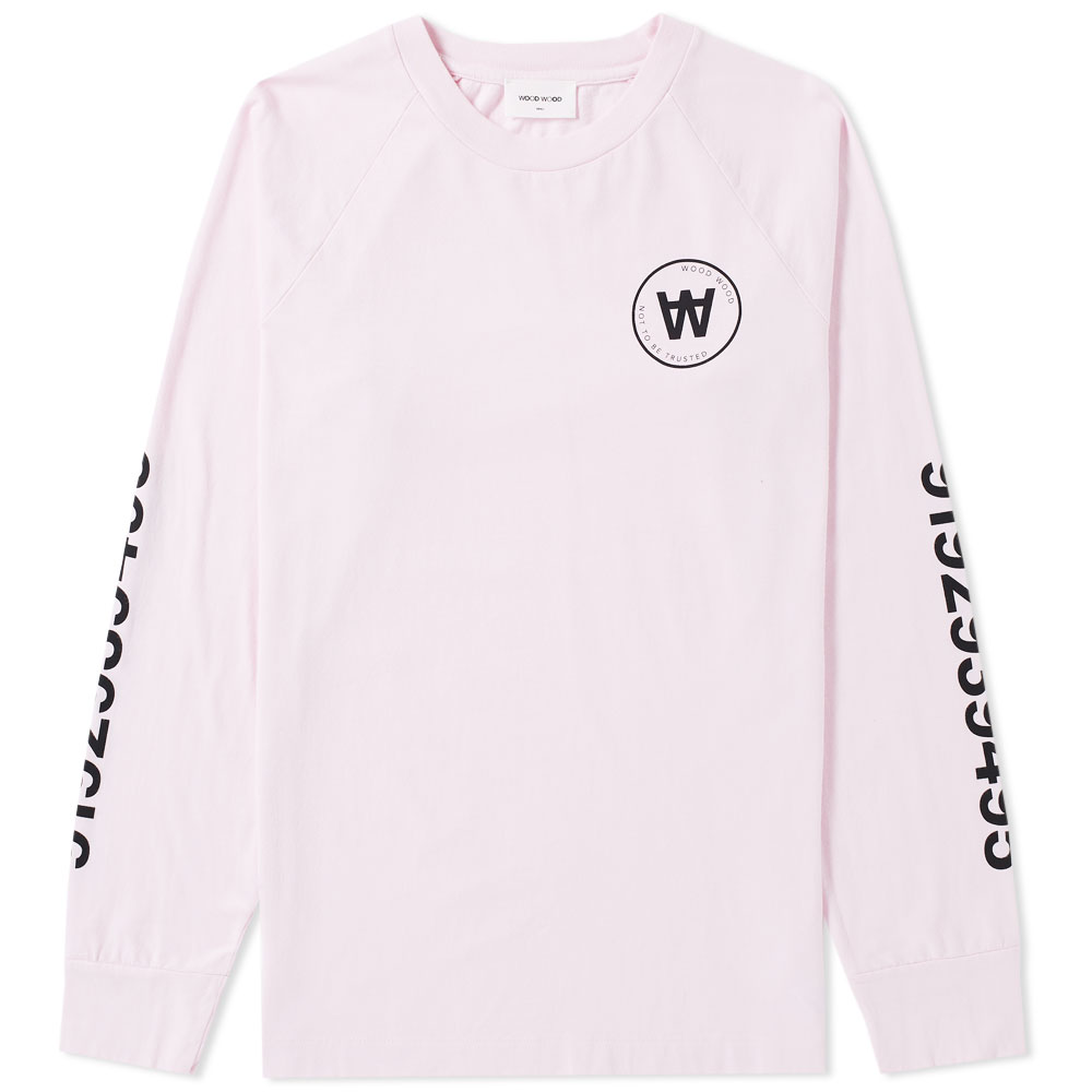 Photo: Wood Wood Long Sleeve Han Circle Logo Tee