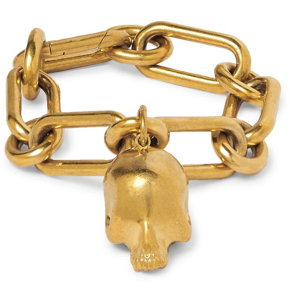 Photo: Undercover - Skull Gold-Tone Chain Bracelet - Gold
