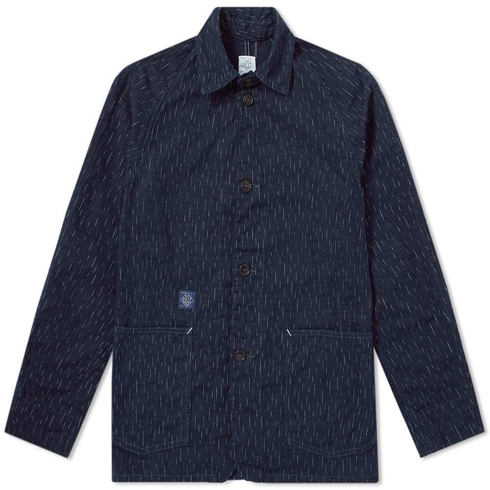 Photo: Post Overalls Post 40 Dobby Overshirt Jacket Blue