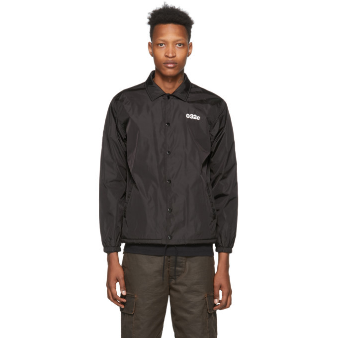 Photo: 032c Black Logo Graphic Coach Jacket
