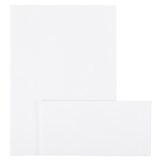 Photo: Maison Margiela SSENSE Exclusive White Line 13 Cotton Letter Stationery Set