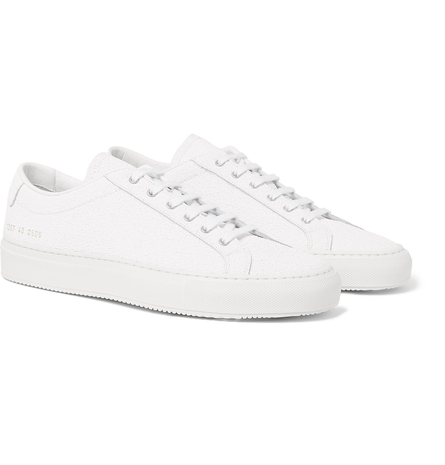 Common Projects - Achilles Premium Textured-Leather Sneakers - White