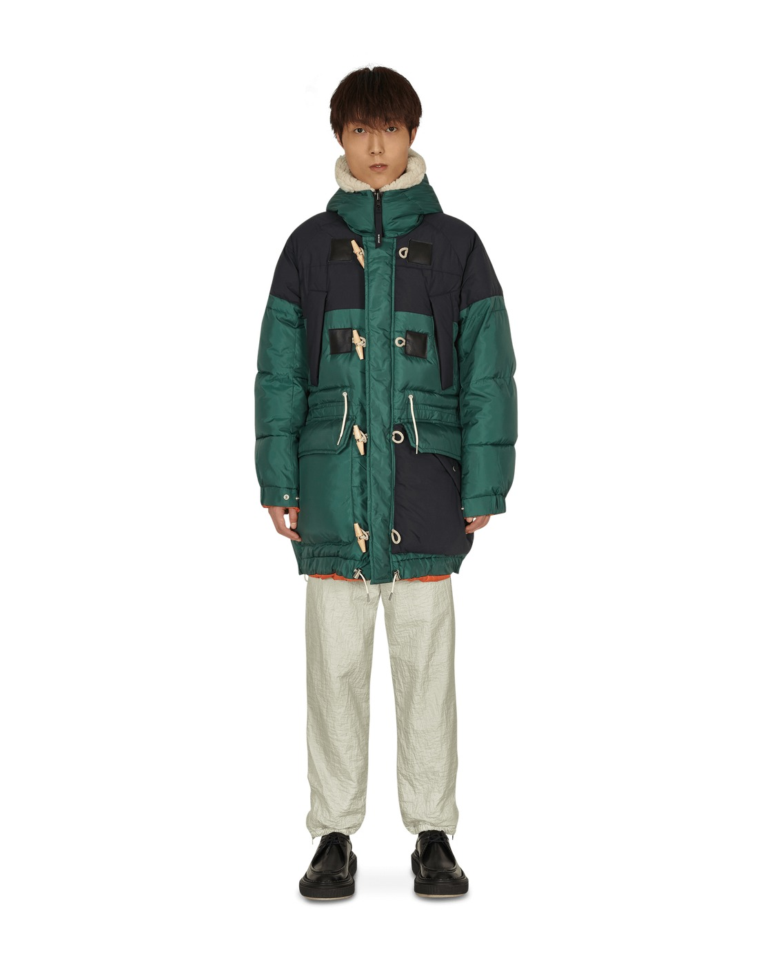 Photo: Sacai Reversible Padded Jacket Green Black