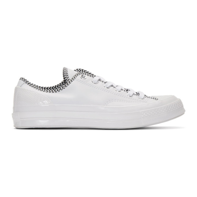 Photo: Converse White Leather Chuck 70 Mission V Sneakers