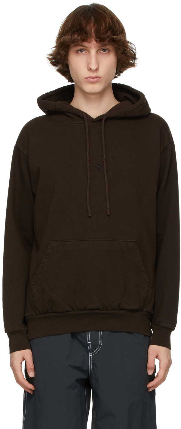Photo: EDEN power corp Brown Recycled Cotton Star Hoodie
