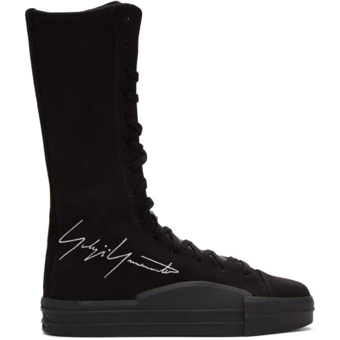 Photo: Y-3 Black Yuben Boot Sneakers
