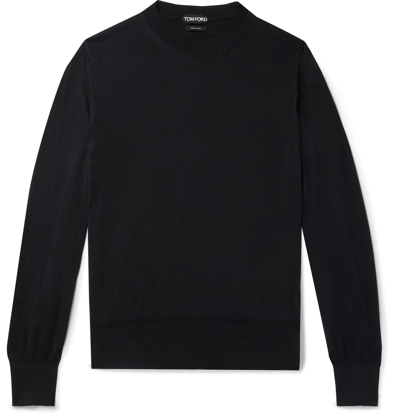 Photo: TOM FORD - Slim-Fit Sea Island Cotton Sweater - Blue