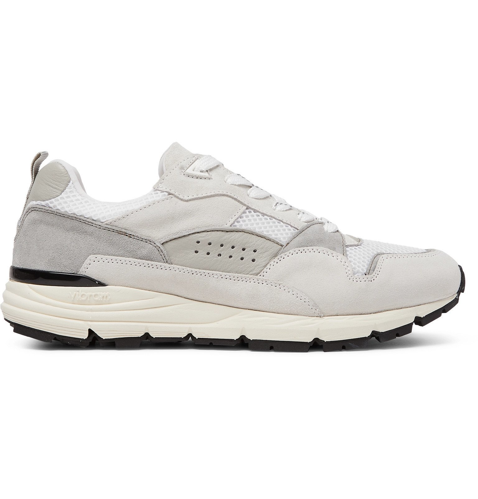Officine Generale - Doug Mesh, Suede and Leather Sneakers - White