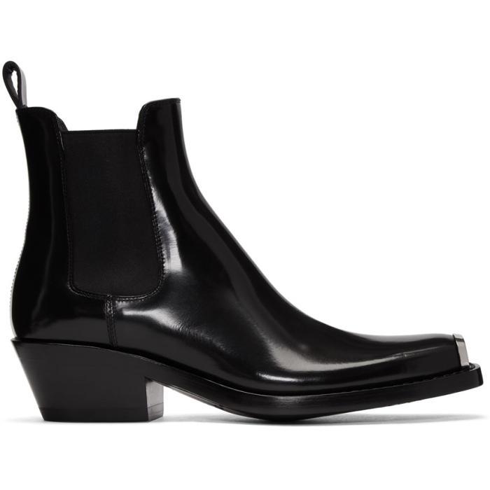Photo: Calvin Klein 205W39NYC Black Western Chris Boots