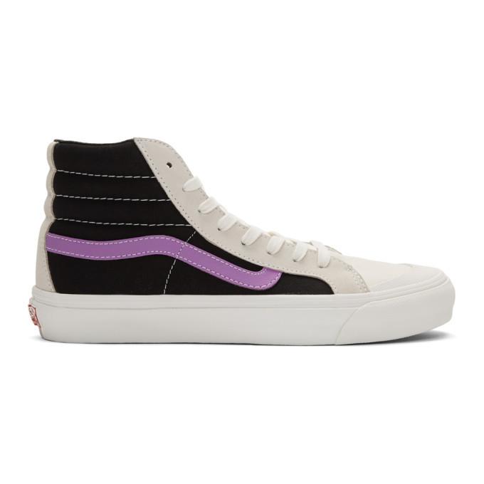 Photo: Vans Grey and Purple OG Style 36 Hi Sneakers