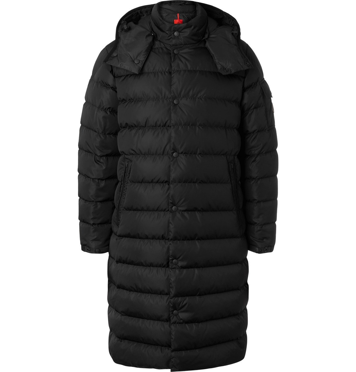 Photo: MONCLER - Nicaise Quilted ECONYL Hooded Down Coat - Black