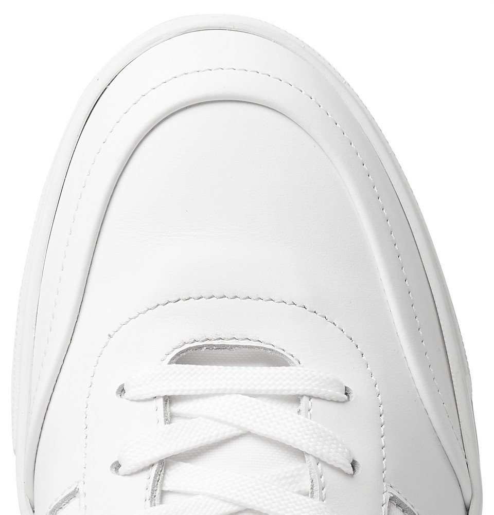Tod's - Leather and Mesh Sneakers - White