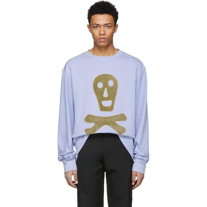 Photo: Loewe Blue Oversized Skull Sweatshirt
