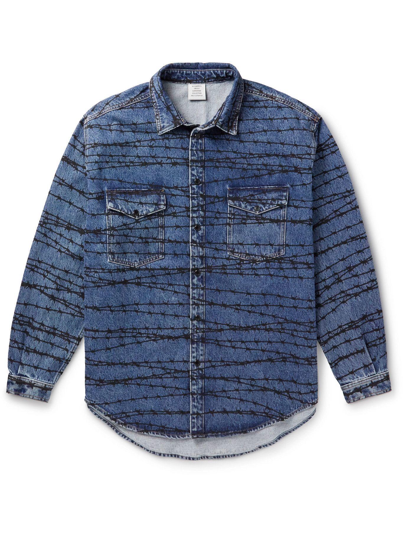 Photo: Vetements - Printed Denim Overshirt - Blue