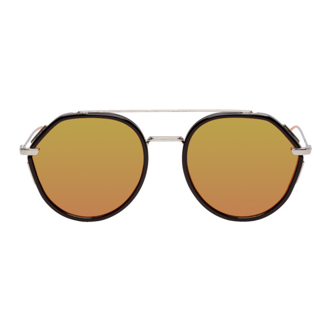 Photo: Dior Homme Black and Silver Dior0219S Sunglasses