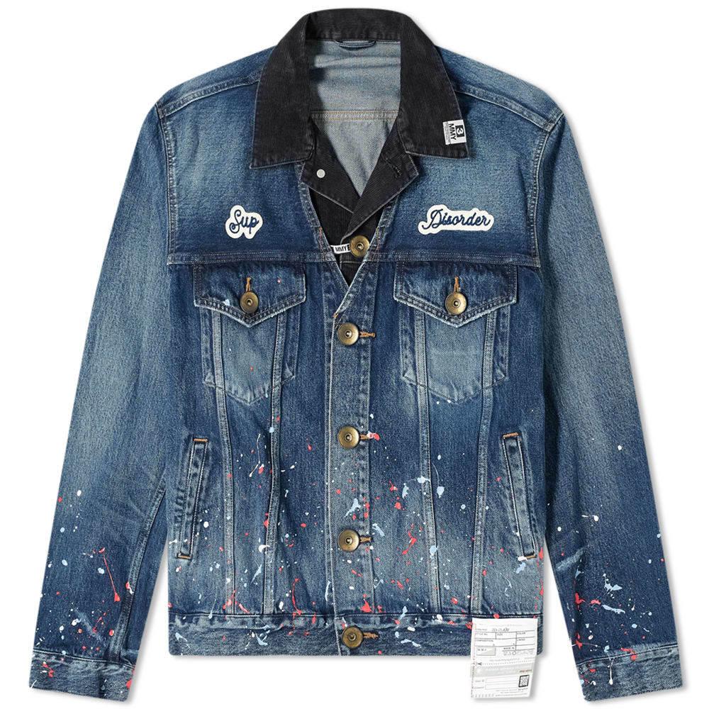 Photo: Maison MIHARA YASUHIRO Paint Splatter Layered Denim Jacket