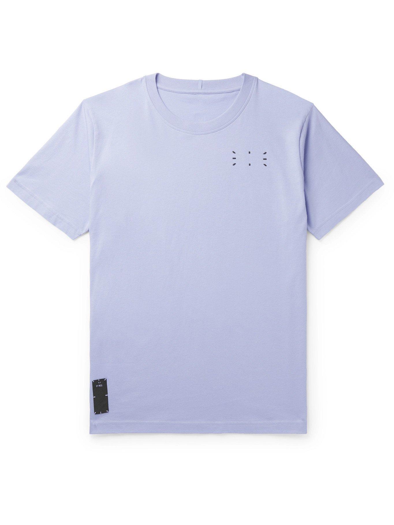 MCQ - Appliquéd Printed Cotton-Jersey T-Shirt - Purple