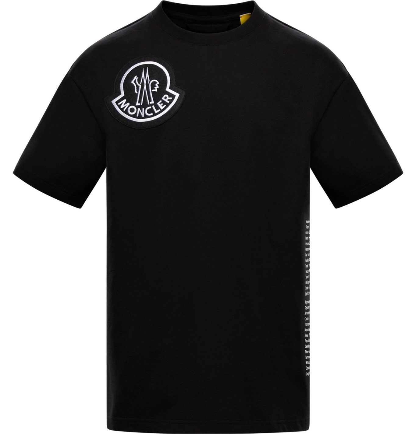 Photo: Moncler Genius - 2 Moncler 1952 Logo-Appliquéd Cotton-Jersey T-shirt - Black