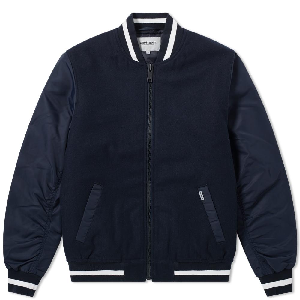Photo: Carhartt Brave Varsity Jacket Blue