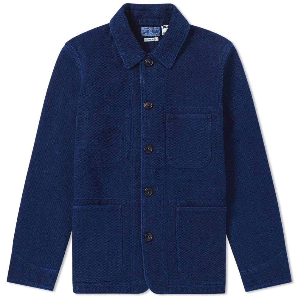 Photo: Blue Blue Japan Sashiko Coverall Jacket Blue