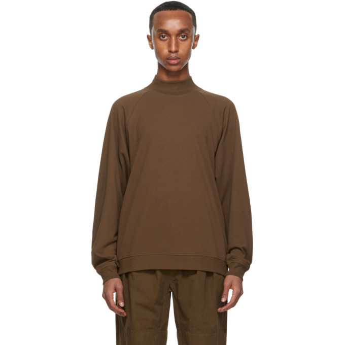 Photo: Lemaire Brown Cotton Crepe Sweatshirt