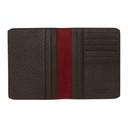 Giorgio Armani Brown Leather Pebbled Passport Holder