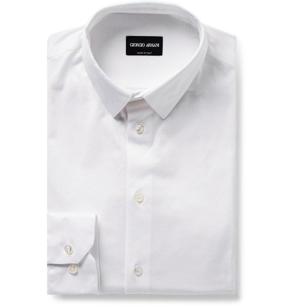 Giorgio Armani - White Cotton-Jersey Shirt - Men - White