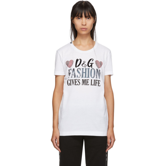 Photo: Dolce and Gabbana White Fashion Gives Me Life T-Shirt