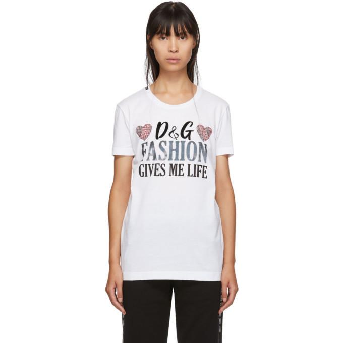 Photo: Dolce and Gabbana White Fashion Gives Me Life T-Shirt