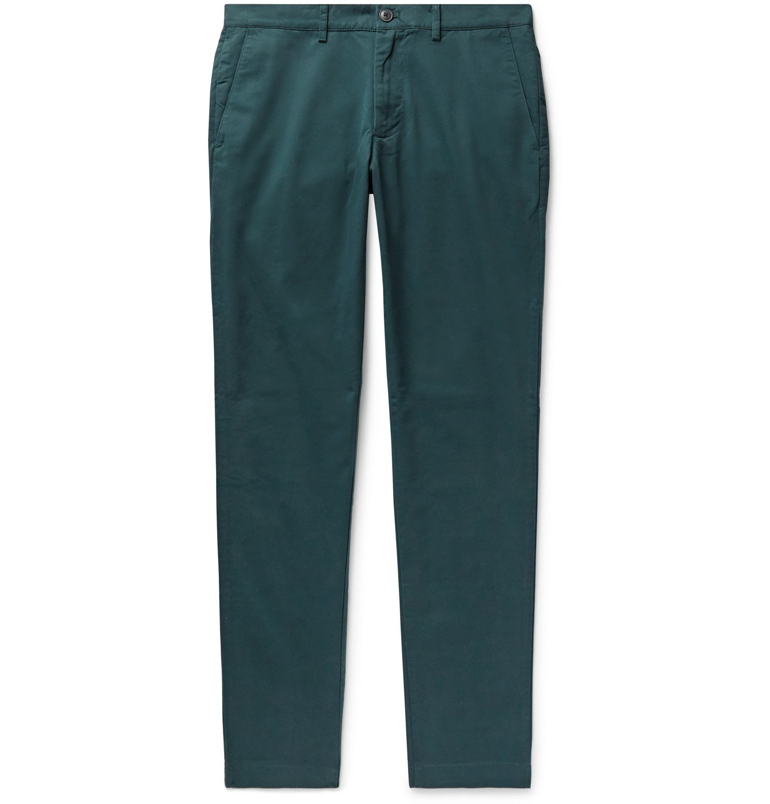 Photo: Club Monaco - Connor Slim-Fit Cotton-Blend Twill Chinos - Green