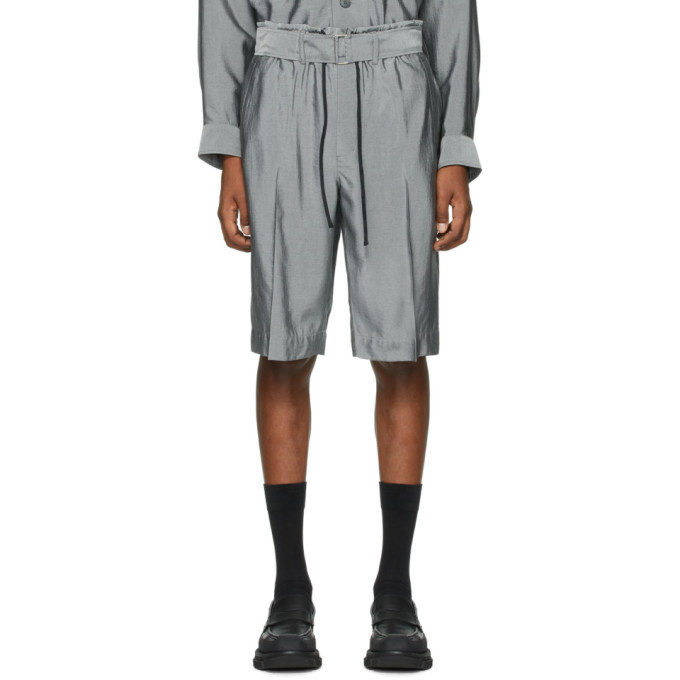 Photo: 3.1 Phillip Lim Grey Drawstring Cargo Shorts