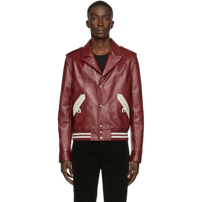 Photo: Saint Laurent Red Leather Jacket