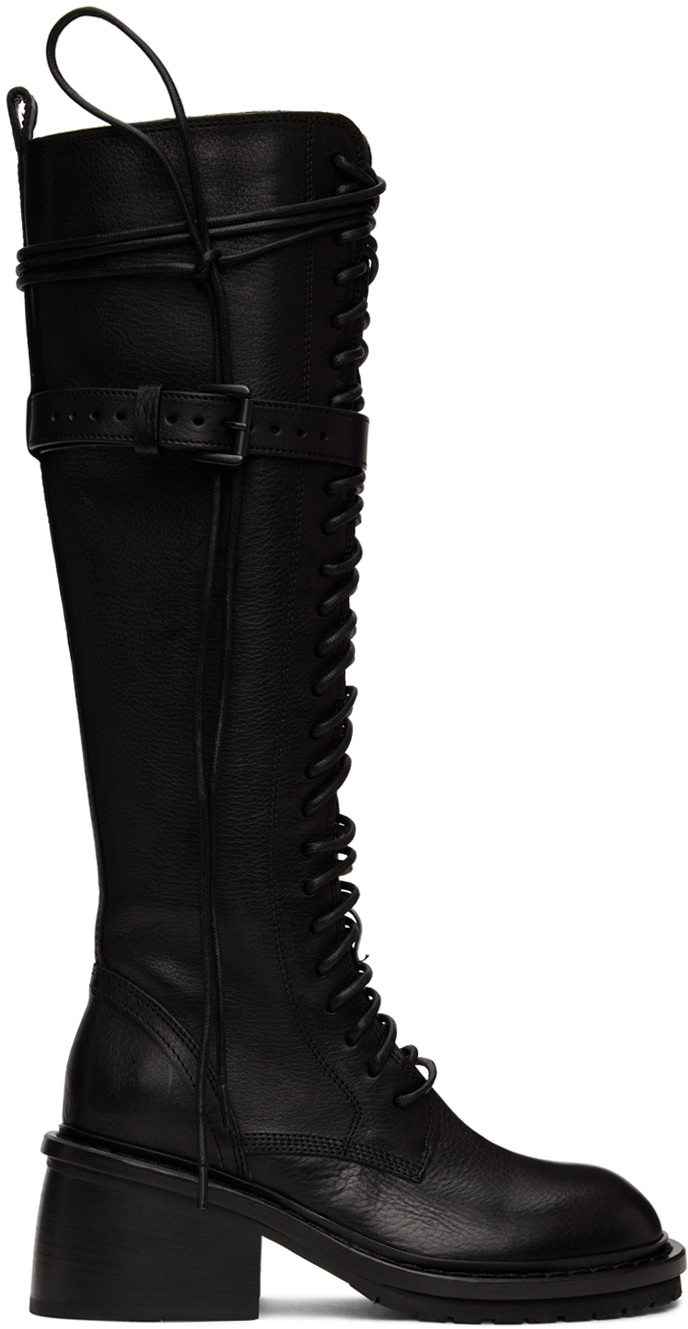 Photo: Ann Demeulemeester Black Lace-Up High Boots