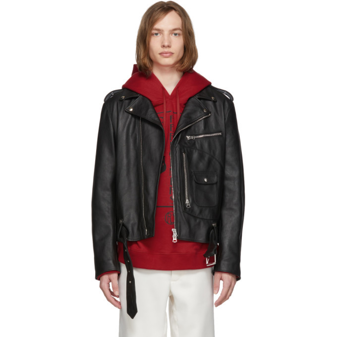 Photo: Acne Studios Black Leather Washed Ladd Jacket