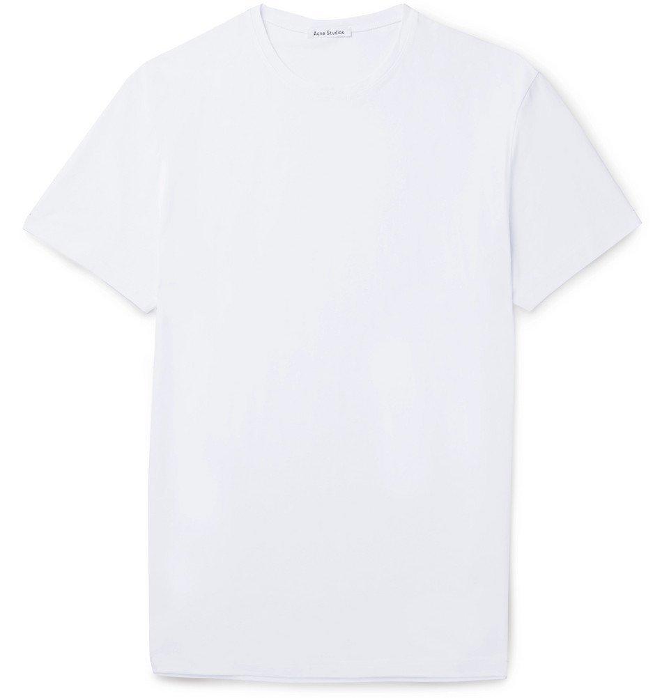 Photo: Acne Studios - Edvin Stretch-Cotton Jersey T-Shirt - White