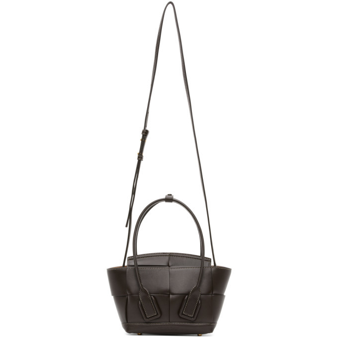 Photo: Bottega Veneta Brown Intrecciato Mini Arco Tote