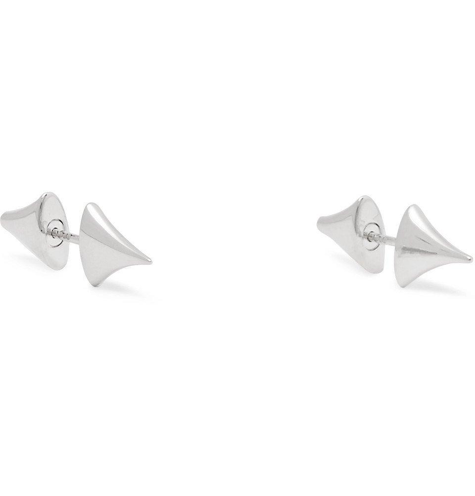 Photo: Shaun Leane - Rose Thorn Silver Bar Earrings - Silver