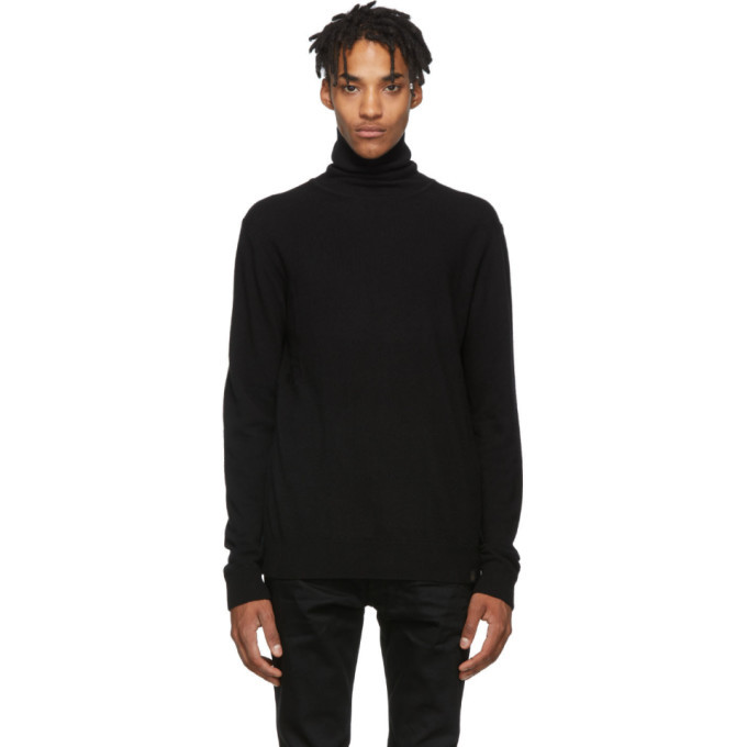 Belstaff Black Engineered Turtleneck