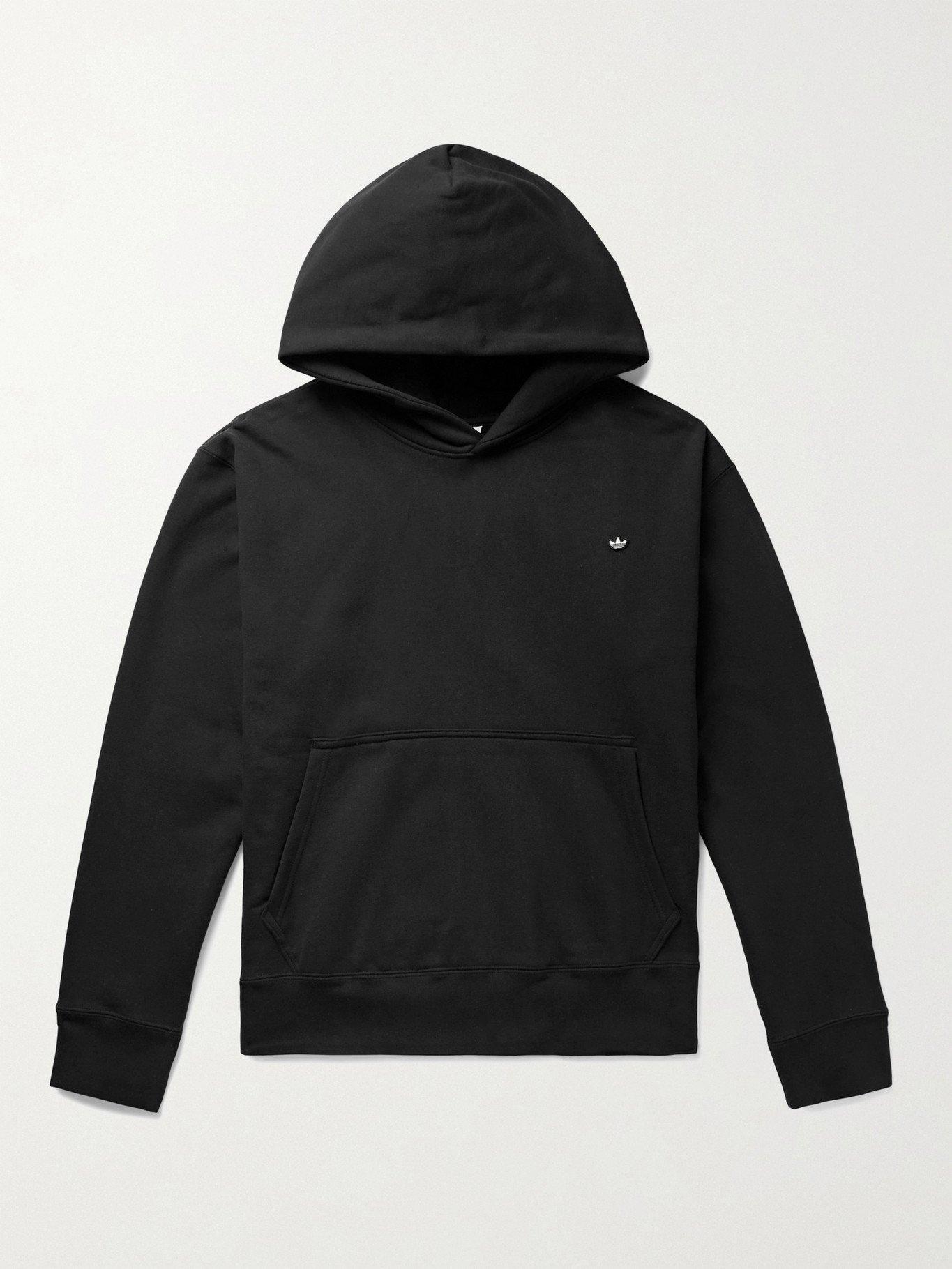 Photo: ADIDAS ORIGINALS - Adicolor Premium Logo-Appliquéd Organic Loopback Cotton-Jersey Hoodie - Black