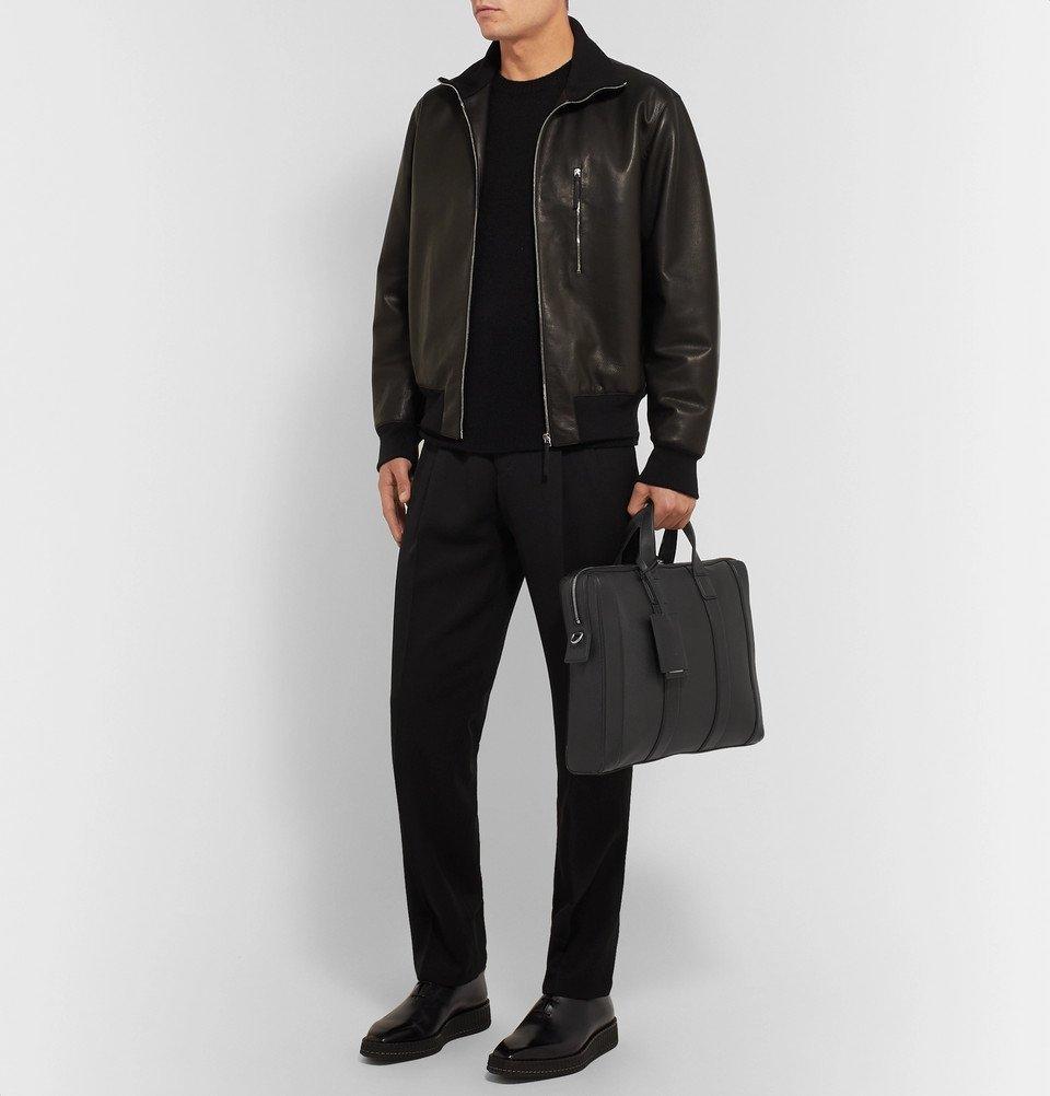 Bottega Veneta - Textured-Leather Briefcase - Black