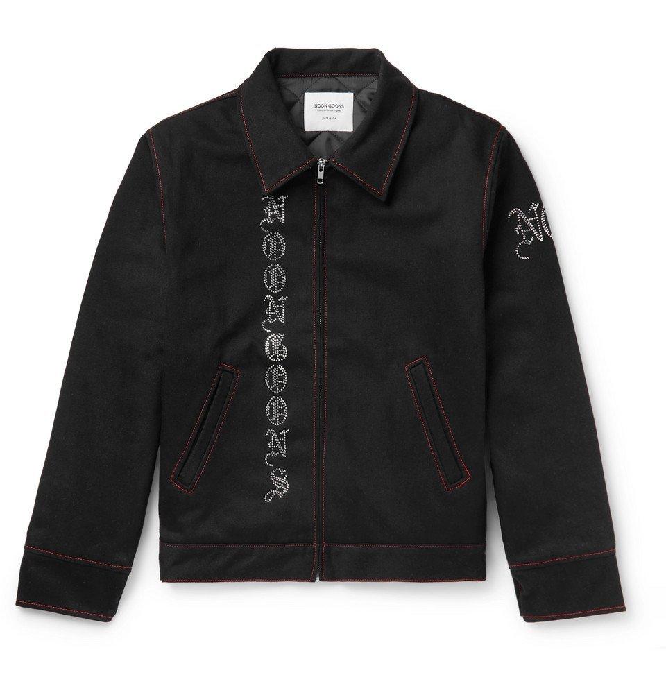 Photo: Noon Goons - Embellished Denim Jacket - Black