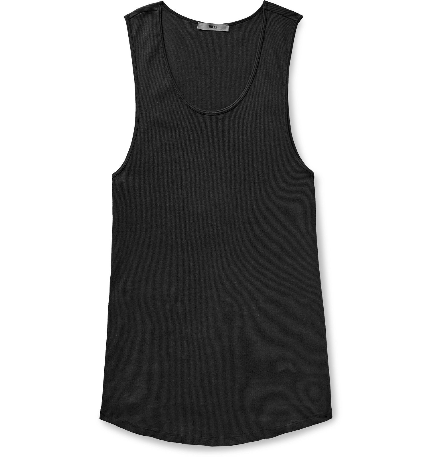 Photo: BILLY - Colton Ribbed Cotton Tank Top - Black