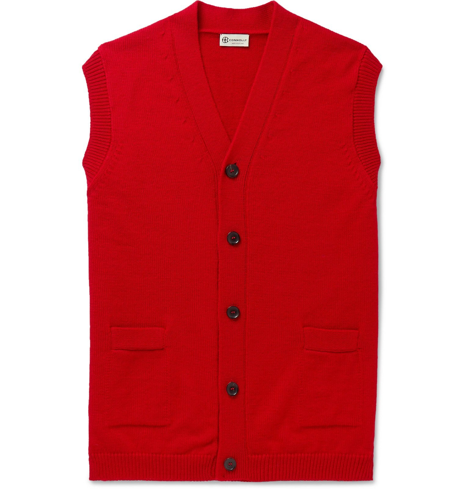 Photo: Connolly - Goodwood Wool and Cashmere-Blend Sweater Vest - Red