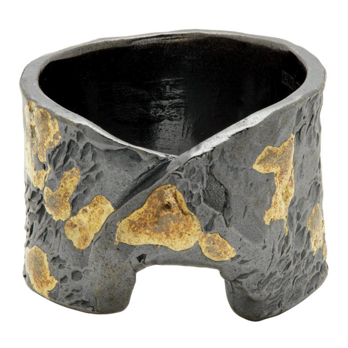 Photo: Chin Teo Silver and Gold Stigma Ring