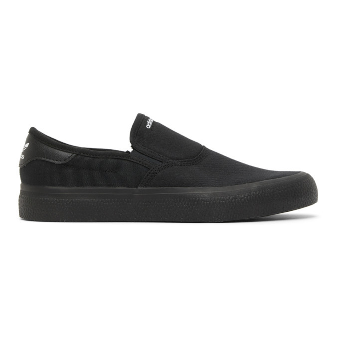 Photo: adidas Originals Black 3MC Slip-On Sneakers