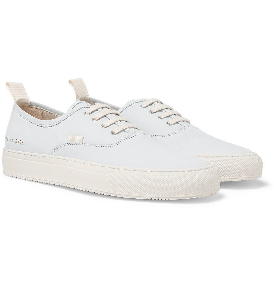 Photo: Common Projects - Tournament Four Hole Nubuck Sneakers - Light blue