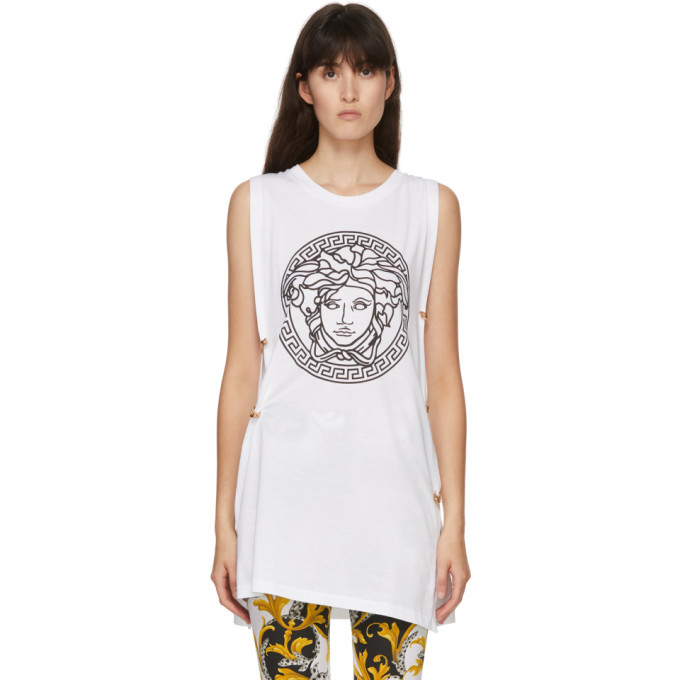 Photo: Versace White Medusa Tank Top